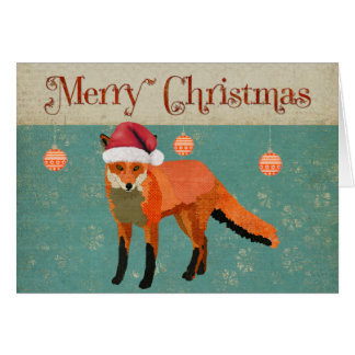 Amber Fox Christmas Card