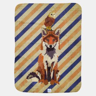 Amber Fox & Owl Baby Blanket