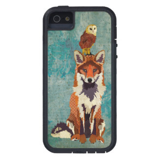 Amber Fox & Owl Blue Rose Case