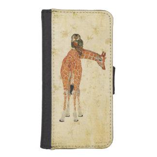 Amber Giraffe & Teal Owl Wallet Case