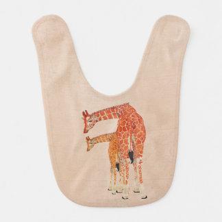 Amber Giraffes Pink Bib