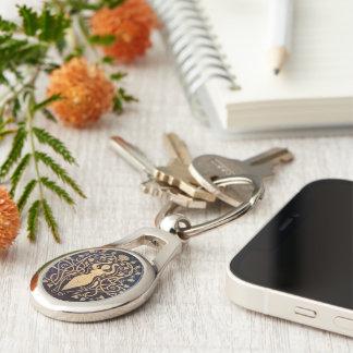 Amber Goddess Keychain - Oval