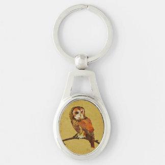 Amber Gold Owl Keychain