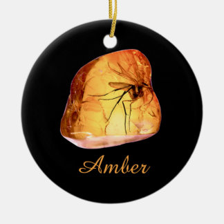 Amber inclusion christmas ornament