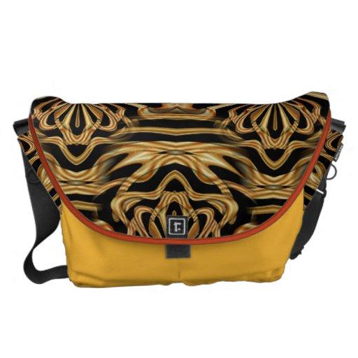 Amber Labyrinth Messenger Bags