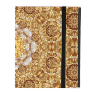 Amber Mandala iPad Folio Case