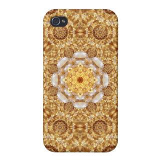 Amber Mandala iPhone 4 Case
