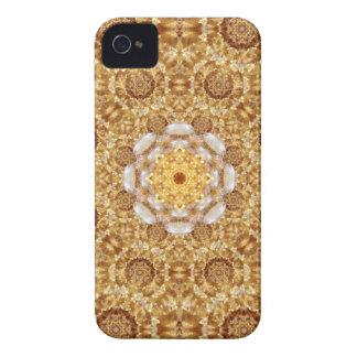 Amber Mandala iPhone 4 Cover