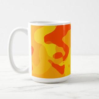 Amber Orange Camo; Camouflage Classic White Coffee Mug