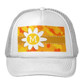 Amber Orange Camo; Daisy Trucker Hat