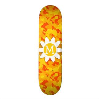 Amber Orange Camo Daisy Skateboard Decks