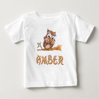 Amber Owl Baby T-Shirt