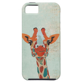 Amber Peeking Giraffe  Blue  iPhone Case