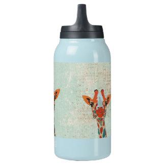 Amber Peeking Giraffe  Liberty Bottle 10 Oz Insulated SIGG Thermos Water Bottle