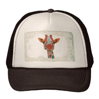 Amber Peeking Giraffe  Lid Trucker Hat