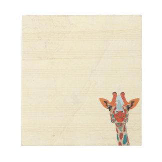 Amber Peeking Giraffe Notepad