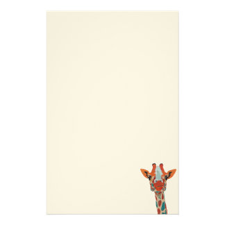 Amber Peeking Giraffe Stationery