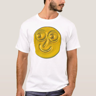 Amber Smiley Face. T-Shirt