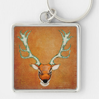 Amber Stag Keychain