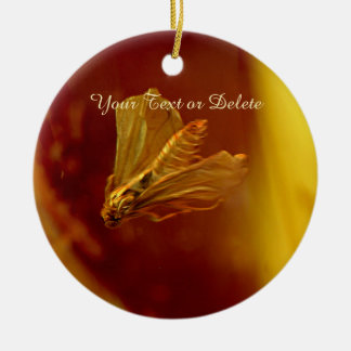 Amber stone close up christmas ornament