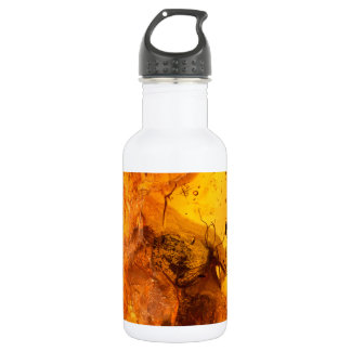 Amber stone texture background 532 ml water bottle