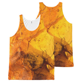 Amber stone texture background All-Over print tank top