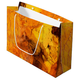 Amber stone texture background large gift bag
