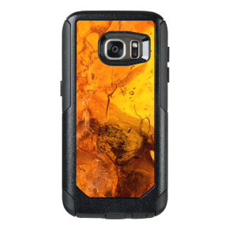 Amber stone texture background OtterBox samsung galaxy s7 case
