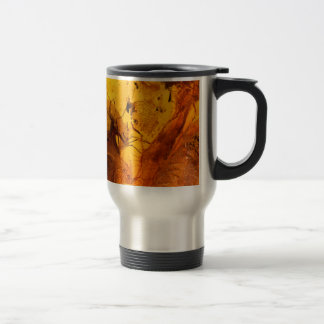 Amber stone texture background travel mug