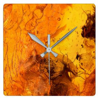 Amber stone texture background wall clocks