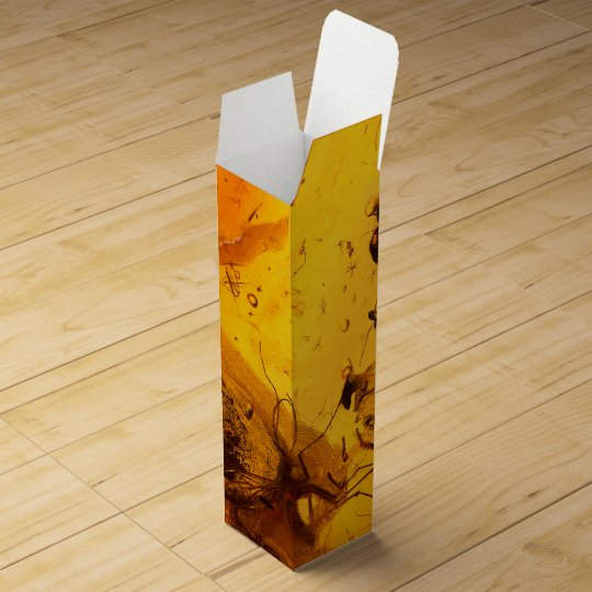 Amber stone texture background wine box