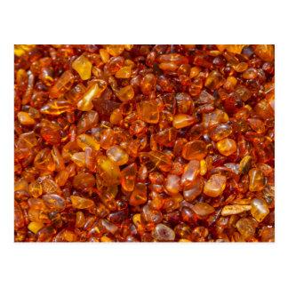 Amber stones postcard