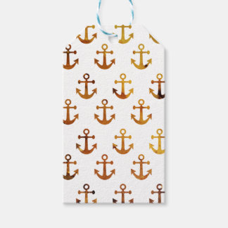 Amber texture anchors pattern gift tags