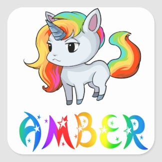 Amber Unicorn Sticker