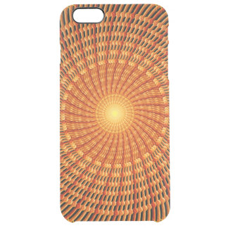 Amber Vortex Mandala Clear iPhone 6 Plus Case
