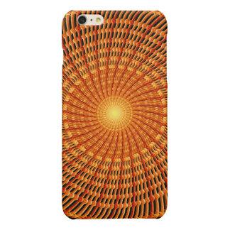 Amber Vortex Mandala iPhone 6 Plus Case