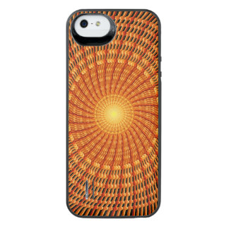 Amber Vortex Mandala iPhone SE/5/5s Battery Case