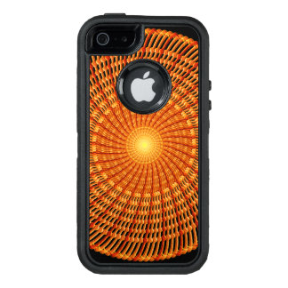 Amber Vortex Mandala OtterBox Defender iPhone Case