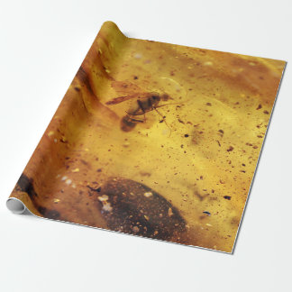 Amber with insect wrapping paper