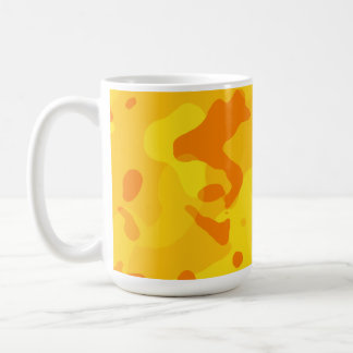 Amber Yellow Camo; Camouflage Classic White Coffee Mug