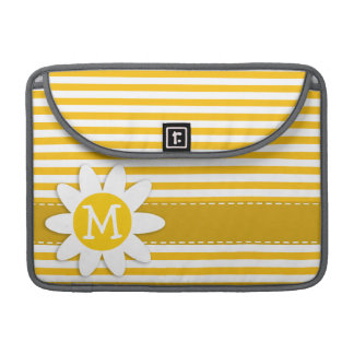 Amber Yellow Stripes; Daisy Sleeve For MacBook Pro