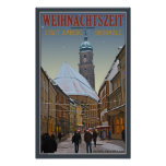 Amberg Christmas - Rathausstrasse Poster