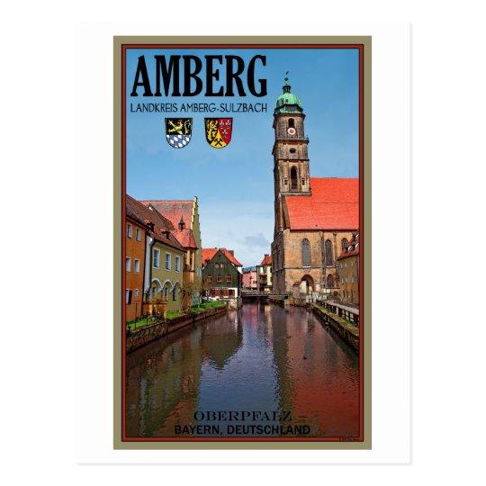 Amberg - Vils River Postcard