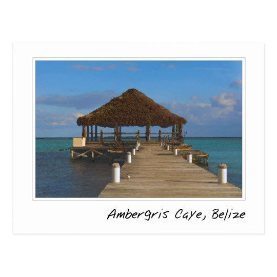 Ambergris Caye Belise Travel Destination Postcard