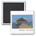 Ambergris Caye Belise Tropical Destination Square Magnet