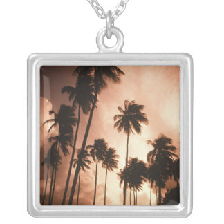Ambergris Caye, Belize, Central America. 2 Silver Plated Necklace