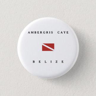 Ambergris Caye Belize Scuba Dive Flag 3 Cm Round Badge