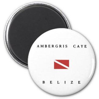 Ambergris Caye Belize Scuba Dive Flag Magnet