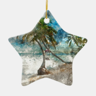 Ambergris Caye Belize Travel Destination Christmas Ornament