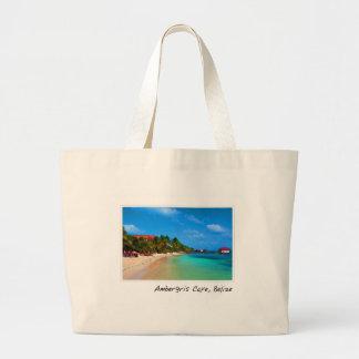 Ambergris Caye Belize Travel Destination Large Tote Bag